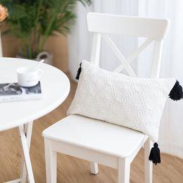 moomin hülle Rabatt cojines decorativos para sofa Morocco geometrische büschelige Schwarzweiss-Quastenkissenbezugweihnachtskissenbezug-Harry-Arten