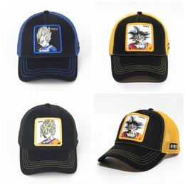 Ps caps online-Dragon Ball Baseball Mesh Cap Goku Ente Zunge Hut Frauen und Männer paar Stickerei Snapback blau schwarz 19 PS C1