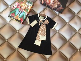 vestiti dolci dei bambini Sconti Baby Girl Dresses Dolce e fresco estivo Abbigliamento per bambini Vestito per bambini Manicotto di moda Beloved Bambino Princess designer lusso Gonna 0606