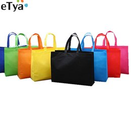 Большой тканевый мешок онлайн-eTya Женщины Складная хозяйственная сумка Многоразовый Eco Большой мужской ткани Нетканые сумки плеча Tote бакалеи ткани Сумки мешочке