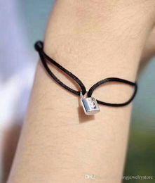 Correas de titanio online-BigHit Entertainment Bracelet Small Lock Pulsera delicada Correa de mano Titanium Steel Lock Bracelet