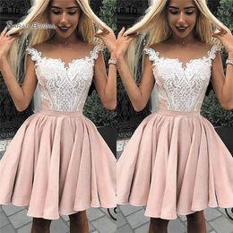 8995f76e1cba dress wide shoulders Coupons - 2019 Short Wide V-neck A-line Cocktail Dress