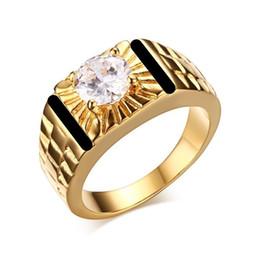 2019 anel de homem de ônix Nova Moda Jóias 18 k Anéis De Ouro para Homens Black Onyx Diamante de Noivado Casamento Mens Anel Atacado e Varejo desconto anel de homem de ônix