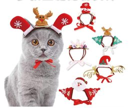 Pet Dogs Accessories Christmas Elk Snowman Head Band Decorations Dog Crown Hat Headband Christmas pet Hair Accessories MMA1033 P da luci gp fornitori