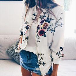 bambusjacke Rabatt Mutterschaft Jacke Mantel Mode gedruckt Rundhals Reißverschluss Langarm Jacke Floral Bamboo Print winddicht Kälteschutz 24