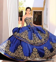 Canada 2019 Elegant Blue Sweetheart Broderie Robe De Bal Princesse Quinceanera Robes Dentelle Corsage Taille Backless Robes De Bal Quinceanera Robes cheap backless embroidery Offre