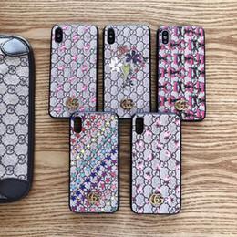 Couvertures d'iphone de caractère en Ligne-2019 nouveau design de marque imprimé Étoile fleur mobile caractère mobile cas de couverture pour iphone XS max 7 7plus 8 8plus 6 6plus Xr