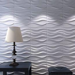Les panneaux de mur 3D plantent le blanc de fibre pour la décoration intérieure 12 PCs 32 Sq.Ft ? partir de fabricateur