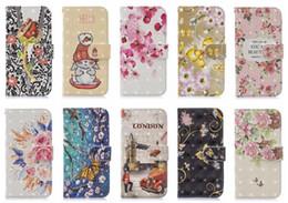 iphone londres Promotion Etui portefeuille en cuir fleur 3D pour Iphone XS MAX XR X 10 8 7 Plus 6 SE 5 fente pour carte d'identité de bande dessinée lapin de bande dessinée London Blossom Fashion luxe Flip Cover
