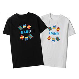 Camisas casuales de calidad para hombre online-Camiseta para hombre de lujo de moda de alta calidad de diseñador de la camiseta de moda de estilo Marca Calle Hombres Mujeres Casual Hip Hop camisetas de manga corta