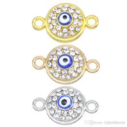 131478a5461a 50 unids   lote 17   11   4mm Blue Evil Eye Metal Charms Collar Pulsera  Conectores Para La Joyería Diy Accesorios al por mayor hacer la pulsera del  ojo ...