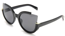 gafas medio marco color rosa Rebajas 4 colores de gran tamaño cuadrado degradado rosa gafas de sol mujeres hombres medio marco de metal famoso diseñador gafas de sol mujer UV400 Shades 10PCS