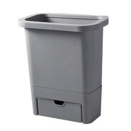 bolsas al por mayor ventana marrón Rebajas Cocina colgados bote de basura Inicio encimera puerta del armario colgante de pared de la puerta del gabinete puede ser grande cesta de escritorio