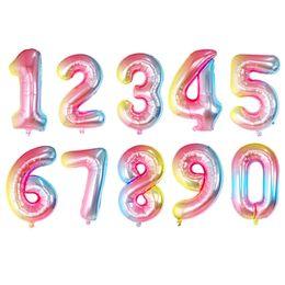 2019 nuovo 32 pollici gradiente colore palloncino digitale compleanno capodanno decorazione di nozze gonfiabili elio numero palloncino supplier inflatable numbers birthday da compleanno dei gonfiabili fornitori