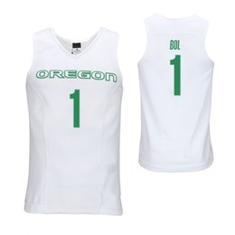 Oregon Ducks Bol Bol uomo bianco Ehab Amin Verde Francesco Okoro Kenny Wooten cucita College Basketball Jersey da