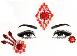 2019 feridas falsas 2019 Parágrafo 15 3D Cristal Glitter Jóias Etiqueta Do Tatuagem Mulheres Moda Rosto Corpo Gemas Gypsy Festival Adorno Festa Maquiagem Beleza