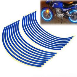 "ZHIYUAN 16-18 ""Roda Rim Stripe Reflexivo Decal Tape Sticker para Carro Motocicleta Bicicleta Moda de Fornecedores de papel de adesivos de carro preto"