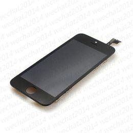 apple iphone 5c parti di ricambio Sconti 50PCS 100% testato LCD Display Touch Screen Digitizer Assembly pezzi di ricambio per iPhone 5 5s 5c DHL libero