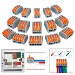 Yeni Stil 50 Adet Mini Hızlı Tel Konnektörler Evrensel Kompakt Kablolama Push-in Terminal Bloğu nereden kablo vga hd 15 tedarikçiler
