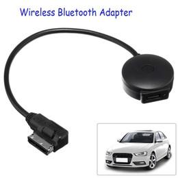 Araba AMI MDI Müzik Arabirimi USB Bluetooth Adaptör Kablosu MP3 Çalar için Audi / VW Taşınabilir mini Siyah Bluetooth Müzik Ses Receiv nereden