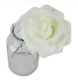 2019 vendas !!! Frete grátis por atacado 25pcs PE Foam Rose Flower Marfim Branco de