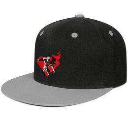 Superman chapéu preto on-line-Superman logotipo vermelho e preto Cinza para homens e mulheres de beisebol plana brim cap legal equipado de golfe em branco do vintage bonito na moda original plana chapéu de aba