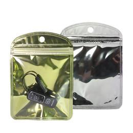 Klar hängender draht online-10x15cm (4x6in) Mobile Zubehör Beutel Klare glänzende Folie mit Fallloch Flach Geschenk Kopfhörerkabel-Paket Taschen