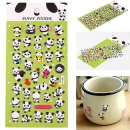 Moda DIY de dibujos animados Animal Panda patrón esponja etiqueta engomada de la decoración pegatinas nueva decoración pegatinas desde fabricantes
