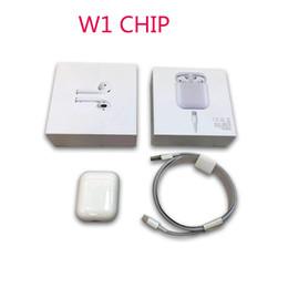 Funda superior universal online-2019 para W1 Chip Airpods Estuche Bluetooth supercop Estuche para auriculares con doble oído Funciona con Touch, Control de voz, Conexión a iCloud, A + de alta calidad