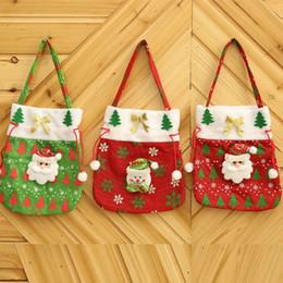 süßigkeiten goody taschen Rabatt Umweltfreundliche Weihnachten Treat-Taschen Christmas Treat Holders Weihnachten Candy Bag Partei Goody Taschen Sankt-Weihnachtstasche für Süßigkeit Geschenk