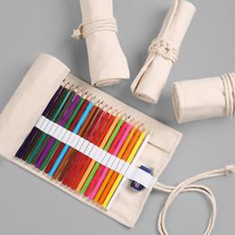 Canvas School Pencil Case 12/24/36/48/72 Trous Rouleau Trousse À crayons Grand multi Penal pour Filles Garçon Stylo Sac Papeterie Pochette Fournitures ? partir de fabricateur