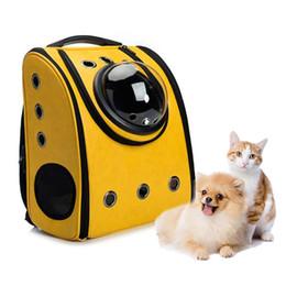 Cane trasportano borse zaini online-Vendita calda Borsa per cani Borsa traspirante Zaino per gatti portatile Zaino da viaggio per animali da compagnia Zaino da viaggio per cani