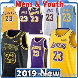 3b9bea49a15 LeBron 23 James Jersey Kyle 0 Kuzma Men Youth 2019 Los Angeles James Lonzo  2 Ball Brandon 14 Ingram 8 Kobe 24 Bryant Jerseys discount kyle kuzma jersey