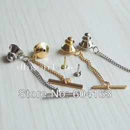 Perno online-Wholesale-20 PCS Vintage chiusura cravatta Tac Tack Pin guardia frizione spalle catena nichel oro