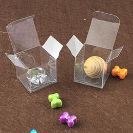 2019 scatole di caramelle trasparenti Scatole trasparenti in PVC Scatole regalo in plastica Scatole regalo, scatole per matrimoni, espositori per gioielli trasparenti Scatole piccole per imballaggio 3 * 3 * 3cm scatole di caramelle trasparenti economici