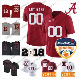 72874fee398 China Custom 2018 Alabama Crimson Tide College Football Black Red White  Stitched Any Name Number Tagovailoa