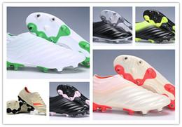16469ec88c1 2019 top quality mens soccer cleats Copa 19+ FG soccer shoes Copa Mundial  football boots outdoor scarpe da calcio Pink Chaussures