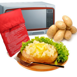 microwave cooking gadgets Coupons - Red Washable Cooker Bag Microwave Baking Potatoes Bag Rice Pocket Cooking Tools Easy To Cook Kitchen Gadgets Baking Tool