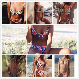 Bikini-kollektion online-2019New Extreme Prints hinterlässt Bademode für Damen Kollektionen Brasilianischer Bikini Badeanzug Badeanzug Mujer Wholesale Drop