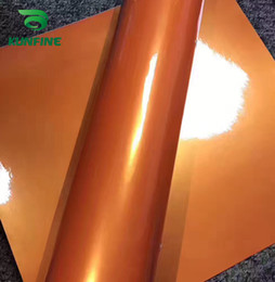 wickelaufkleber orange Rabatt Auto Styling Wrap Traum gold orange Auto Vinyl film Körper Aufkleber aufkleber Mit Air Free Bubble Für Motorrad Tuning Teile