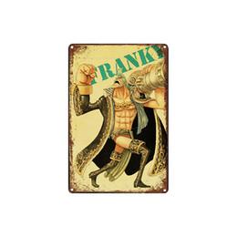 Figuras de desenhos animados vintage on-line-Clássico retro dos desenhos animados do vintage ONE PIECE figura Placa de Lata ao ar livre Arte Da Parede decoração Bar Pinturas De Metal
