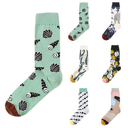 сумасшедшие носки Скидка 2019 Lovers Novelty Funny Crew Socks for Dress or Casual Crazy Print Four seasons cotton Cute couple Gift Ankle socks
