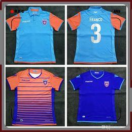 Blu jersey di calcio americano online-S-2XL Thai qualità 2019 Miami FC USA America Soccer Jerseys 19 20 Maglia Miami Home Soccer Maglia SUAREZ Third away Blue Football