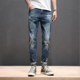Ragazzi blu jeans lavati online-Ragazzi Jeans casual per il nuovo stile della collezione SS2019, pantaloni in denim estivo, lavaggio alla moda usato e qualità del tessuto adatto, blu