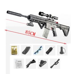 Pistola sportiva esterna online-Pistole di acqua giocattolo per bambini, fucile da cecchino di plastica, laser a raggi infrarossi, ragazzo sport all'aria aperta divertimento acqua giochi gioco sparato regalo