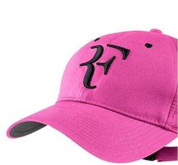 desenhador Hats Caps mulheres zados Tennis homem do chapéu proteção solar UV verão Roger Federer ostenta o tampão bonés de beisebol multi-color de Fornecedores de camisas de hóquei para barato