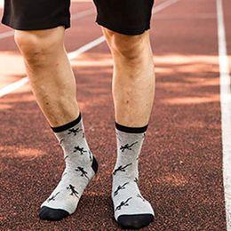 ölgemälde niedliches tier Rabatt 5 Paare Männer Jungen Herbst Lustige Neuheit Lange Crew Socken Berühmte Ölgemälde Kontrast Farbe Niedlichen Tier Gedruckt Baumwollstrumpfwaren