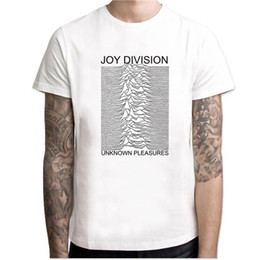 Magliette di gioia online-T-shirt uomo estate 2019 Joy Division Unknown Piacere punk fashion T-shirt rock hipster streetwear maglietta uomo top crossfit MC82
