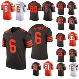 96438298f New arrival football jersey 73 6 Baker Mayfield 80 Jarvis Landry 21 Denzel  Ward 95 Myles Garrett Jerseys ward jersey promotion
