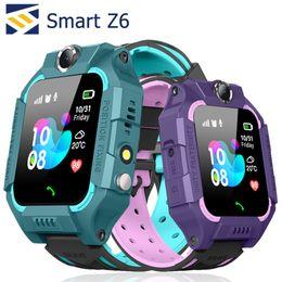 Telemóveis para crianças on-line-Z6 Crianças Relógio Inteligente À Prova D 'Água Vice Chat Chamando Slot Para Cartão SIM LBS Localização SOS Crianças Smartwatch Para iPhone Android Celular
